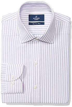 Buttoned Down Men's Slim Fit Spread-Collar Pattern Non-Iron Dress Shirt