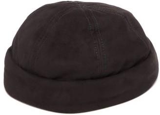 Lock & Co Hatters Dover Goatskin Suede Watch Cap - Mens - Black