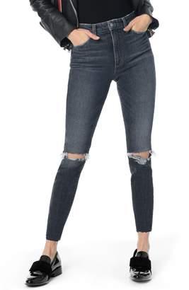 Joe's Jeans Charlie Ripped High Waist Ankle Skinny Jeans