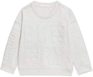 Burberry TEEN embossed logo sweatshirt