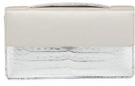 Nancy Gonzalez Small Satin Crocodile Evening Clutch Bag