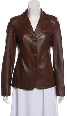 Barneys New York Barney's New York Leather Notch-Lapel Jacket