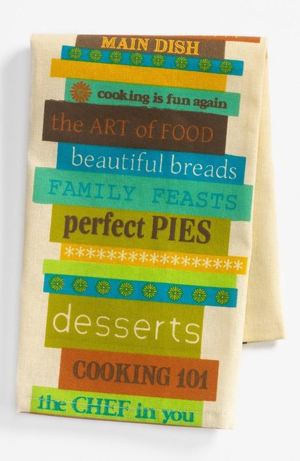 Peking Handicraft 'Anna Maria Horner - Blue Cook Book' Dish Towel