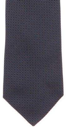 Ralph Lauren Purple Label Dot Jacquard Silk Tie