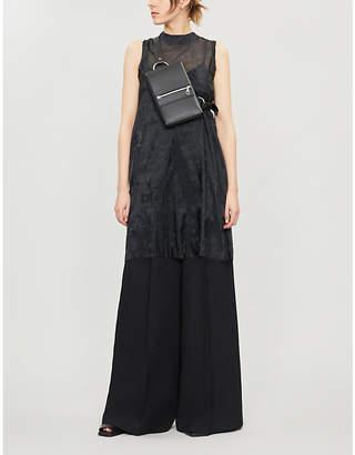 Yang Li Bow-Embellished Crepe Mini Dress