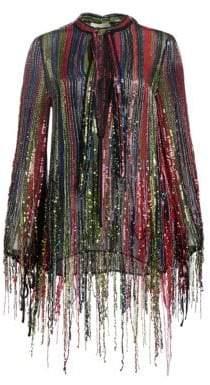 Amen Women's Sequin Fringe Blouse - Size 40 (2-4)