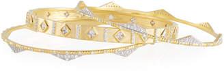 Freida Rothman Visionary Fusion Crown Stacking Bangles, Set of 3