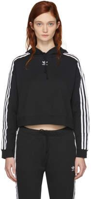 adidas Black Cropped Hoodie
