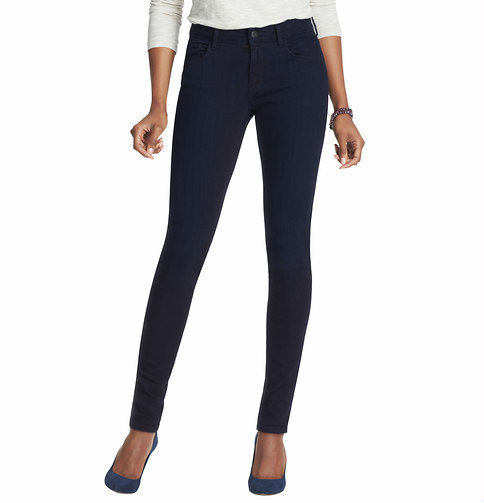 LOFT Tall Curvy Super Skinny Jeans in Overdyed Rinse Wash