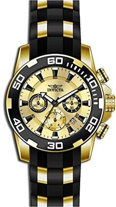 Invicta Men's 'Pro Diver' Quartz -Tone and Silicone Casual Watch