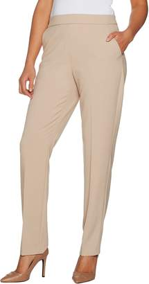 Susan Graver Petite Chelsea Stretch Straight Leg Pull-On Pants