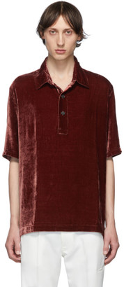 Our Legacy Red Velvet Piquet Polo