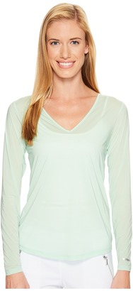 Jamie Sadock - Sunsence Lightweight Long Sleeve Layering Under Garment Top with UVP 30 Women's Long Sleeve Pullover $59.50 thestylecure.com