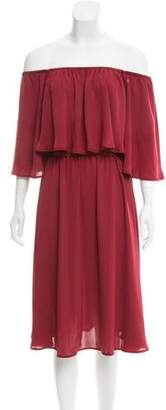 House Of Harlow Off-The-Shoulder Midi Dress