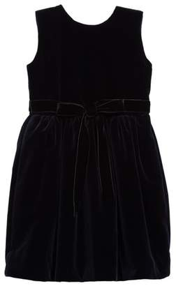 Oscar de la Renta Belted Velvet Dress