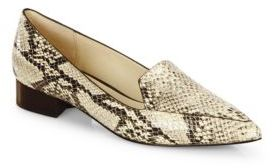 Cole Haan Dellora Snake-Embossed Leather Skimmer Flats $210 thestylecure.com