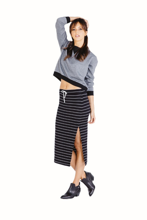Saint Grace - Jodi Midi Skirt In Black White