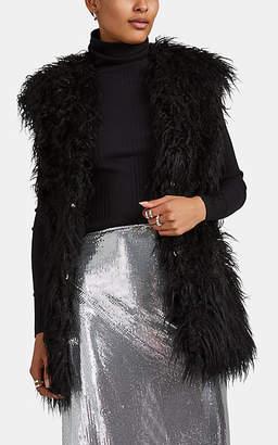 Paco Rabanne Women's Shaggy Faux-Fur Vest - Black