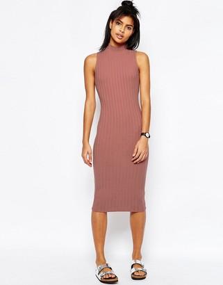 ASOS Sleeveless Chunky Rib Midi Bodycon Dress $30 thestylecure.com