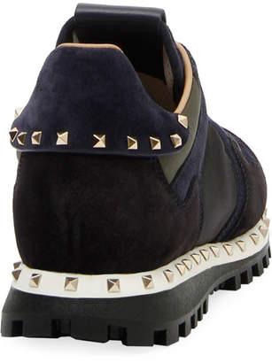 Valentino Rockstud Camo Trainer Sneakers