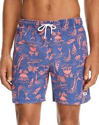 Trunks Surf & Swim Co. Premium Washed Tropical-Print Swim