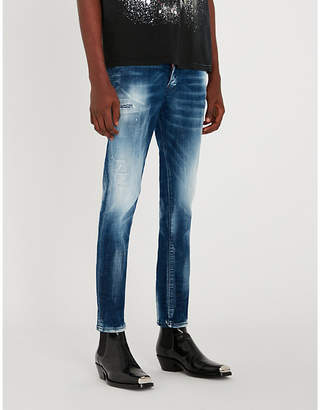 DSQUARED2 Faded slim-fit straight jeans