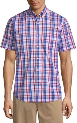 Dockers Short Sleeve Plaid Button-Front Shirt