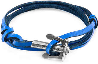 Anchor And Crew Union Silver & Flat Leather Bracelet