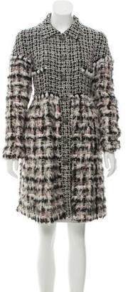 Chanel Fantasy Fur Tweed Coat