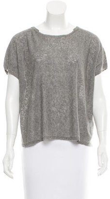 Inhabit Linen-Blend Short Sleeve Top w/ Tags $95 thestylecure.com