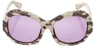 House Of Harlow Rachel Snakeskin Sunglasses
