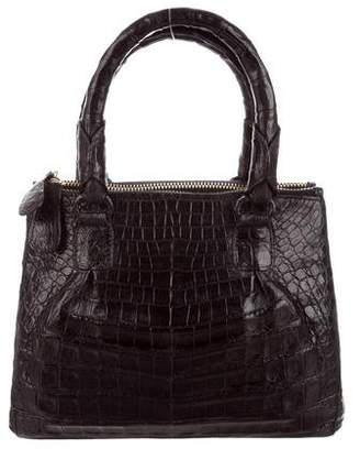Nancy Gonzalez Mini Crocodile Plisse Satchel