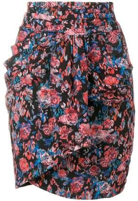 IRO floral print mini skirt