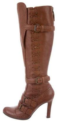 Alexander McQueen Leather Knee-High Boots