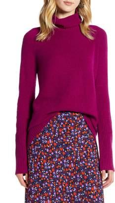 Halogen Oversize Turtleneck Sweater