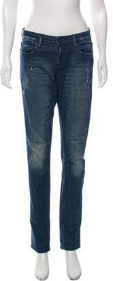 Blank NYC Mid-Rise Straight-Leg Jeans