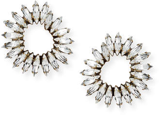 clear Auden Vivian Crystal Hoop Earrings