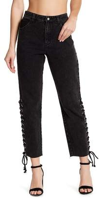 Honey Punch Side Lace Jeans