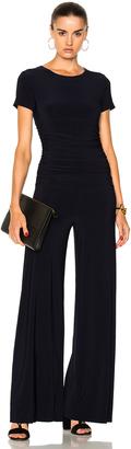 Norma Kamali Shirred Waist Jumpsuit $175 thestylecure.com