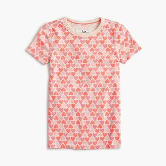 J.Crew Girls' short-sleeve pajama set in hearts