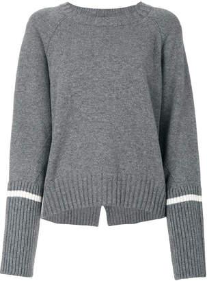 Moncler stripe sleeve sweater