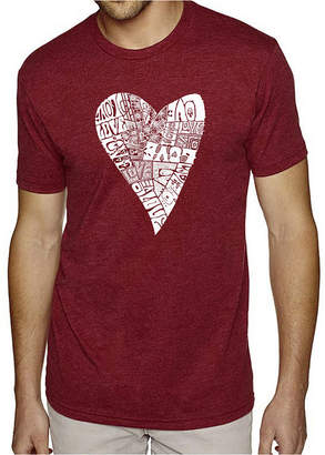Lots of Love LOS ANGELES POP ART Los Angeles Pop Art Men's Big & Tall Premium Blend Word Art T-shirt