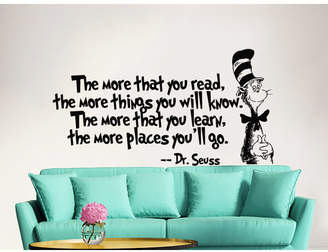 Dr. Seuss Decal House the More That You Read Decal Quote Sayings Wall Decal