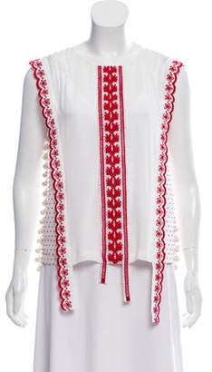 Altuzarra Alma Embroidered Top w/ Tags