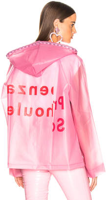 Proenza Schouler Pswl PSWL Hooded Raincoat in Pink | FWRD
