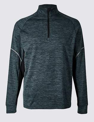 Marks and Spencer Active Slim Fit Textured Zipped Through Top