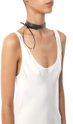 Jewelry Rendor & Steel Multi Wrap Studded Choker