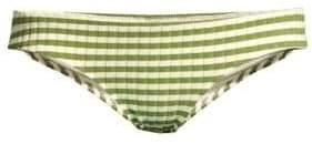 The Elle Ribbed Stripe Bikini Bottom