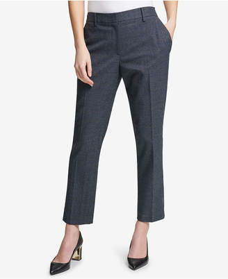 DKNY Glen Plaid Ankle Pants, Created for Macy's