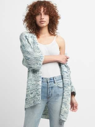 Gap Three-Quarter Sleeve Open-Front Cardigan Sweater